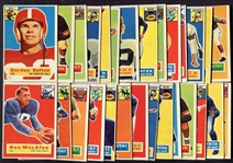 1956 Topps Football Lot of 28 Different Vg - EX w/Stars