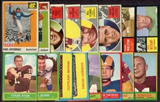 1955-1969 Topps & Philadelphia Football Lot of 35 Different