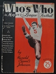 1936 Whos Who in Major League Football Magazine