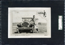 1922 Ty Cobb Oldsmobile Photo SGC AUTH