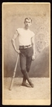 1890s Baseball Player Cabinet Card w/League Ring Bat