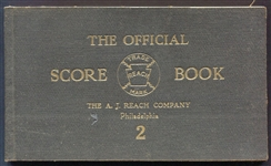 Early 1900s A. J. Reach Official Score Book 2