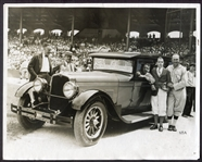 1927 Eddie Collins & Ty Cobb Stutz Automobile Photograph