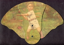 Circa 1940s-50s Baseball Trifold Advertising Fan
