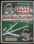 1930s Dizzy and Daffy Dean Base Ball Play Suit New in Box