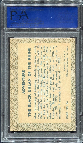 1956 Adventure Gum High Grade Near Set 84 of 100 Most PSA 8's & 9's Plus Dupes!