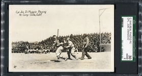 C. 1943 Cpl. Joe Dimaggio Real Photo Postcard SGC 30