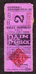 1911 World Series Game 3 Ticket Stub