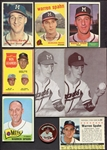 1950s-60s Warren Spahn Card & Coin Collection of 9 Different