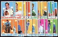 1970-71 Topps Hockey Lot of 50 Mostly Different VG - EX+