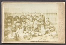 1890s Greens Nebraska Indians Baseball Team Cabinet