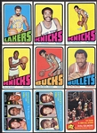 1972 Topps Basketball Lot of 60 Different Loaded w/Stars