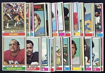 1974 Topps Football Lot of 54 Different w/Stars & HOFers