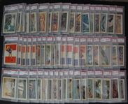 1956 Adventure Gum High Grade Complete Set of 100 Most PSA 8s & 9s