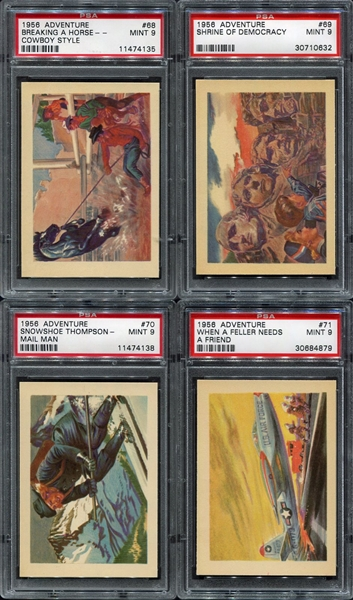 1956 Adventure Gum High Grade Complete Set of 100 Most PSA 8's & 9's