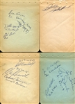 1960s Autograph Book Pages w/Willie Mays & Many More!