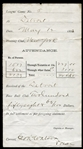 1883 Detroit Wolverines Attendance Receipt Signed by George Watson