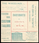 1895 Dartmouth vs. Brown Baseball Program w/Football Advertising Insert