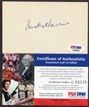 Bucky Harris Autographed 3x5 PSA/DNA Certified