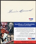 Heinie Manush Autographed 3x5 PSA/DNA Certified