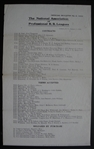 1920 National Association of Professional B.B. Leagues Bulletin
