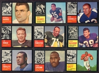 1962 Topps Football Lot of 10 Different W/SPs & HOFers