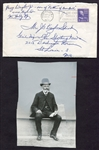 Harry Wright Jr. 1954 Letter to Sporting News Editor J. G.Taylor Spink w/Photo