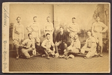 Circa 1884 Terre Haute Blues Baseball Club Cabinet Photo