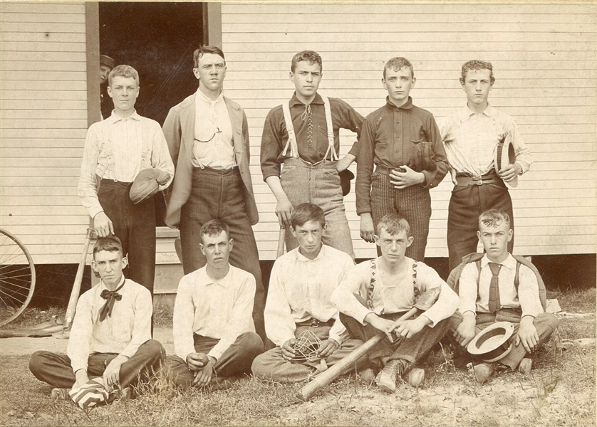 1897 Springfield Ohio Schaefer School Baseball Team