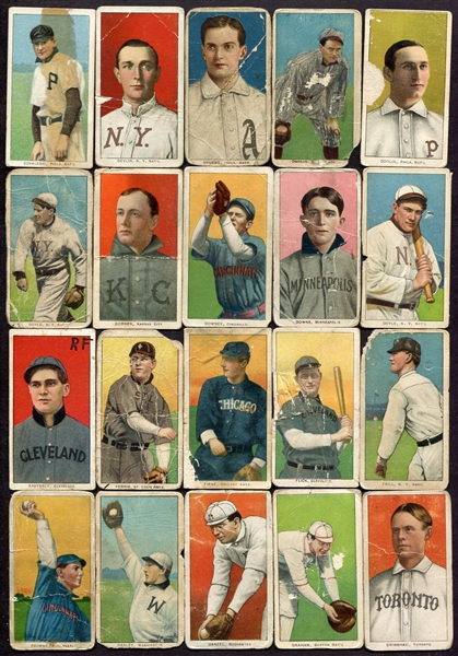 T206 Lot of 105 Different!! HOFers SLers & Oddities