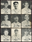 1947 Tip Top Bread Lot of 11 Different St. Louis Browns/Cardinals