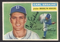 1956 Topps #233 Carl Erskine Autographed