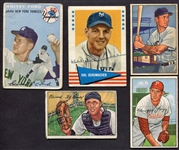 Lot of 5 1950s-60s Cards w/One Signed