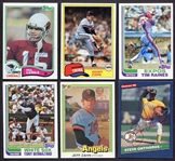 1980s Autographed Lot of 6 Baseball & Football Cards