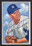 1952 Bowman #105 Bobby Brown Autographed