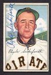 1952 Bowman #227 Clyde Sukeforth Autographed