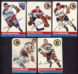 1954-55 Topps Hockey Lot of 5 Different