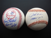 Autographed Baseballs Tracy Stallard & Jack Fisher Pitchers from Maris Home Run Breaking Season
