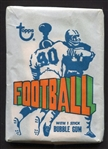 1972 Topps Football Unopened Wax Pack