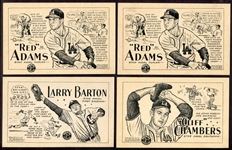 1947 PCL Signal Oil Los Angeles Angels Partial Set of 15 Different Ex/Exmt