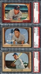 1955 Bowman Lot of 3 PSA Graded