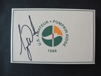1996 US Amateur Tiger Woods Signed box of Golf Balls w/Tournament Pass