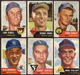 1953 Topps Lot of 10 Different