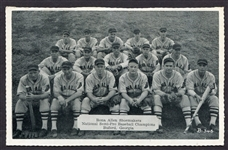 1938/39 Bona Allen Shoemakers Baseball Team Postcard
