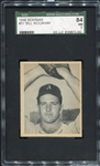 1948 Bowman #31 Bill McCahan Philadelphia Athletics SGC 84