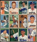 1951 Bowman Lot of 52 Different w/HOFers & High #s