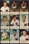 1953-53 Briggs Meats Lot of 9