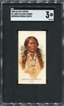 N2 1888 Allen & Ginters American Indian Chiefs John Yellow Flower SGC 3