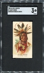 N2 1888 Allen & Ginters American Indian Chiefs Many Horns SGC 3