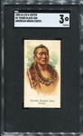 N2 1888 Allen & Ginters American Indian Chiefs Young Black Dog SGC 3